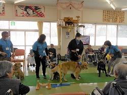特別養護老人ホーム「ゆうゆう荘」でセラピー活動を行いました(青森市浪岡)。
