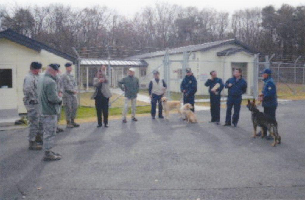 三沢アメリカ軍基地内で日米ドッグトレーナー勉強会を開催しました。