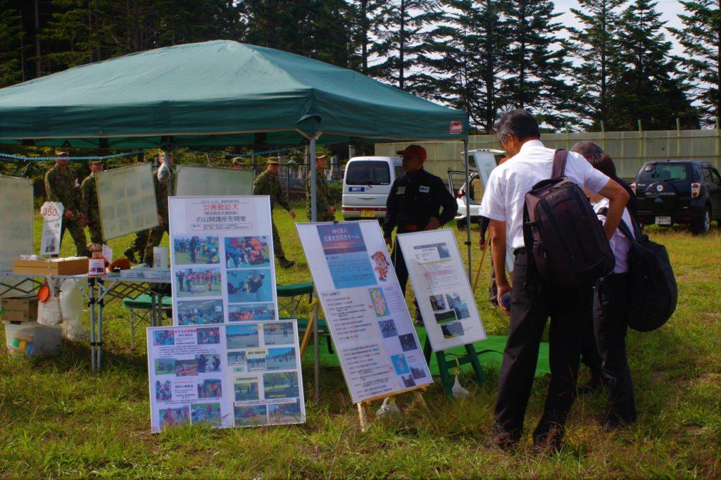 青森市総合防災訓練に参加しました(横内地区と浪岡地区)。