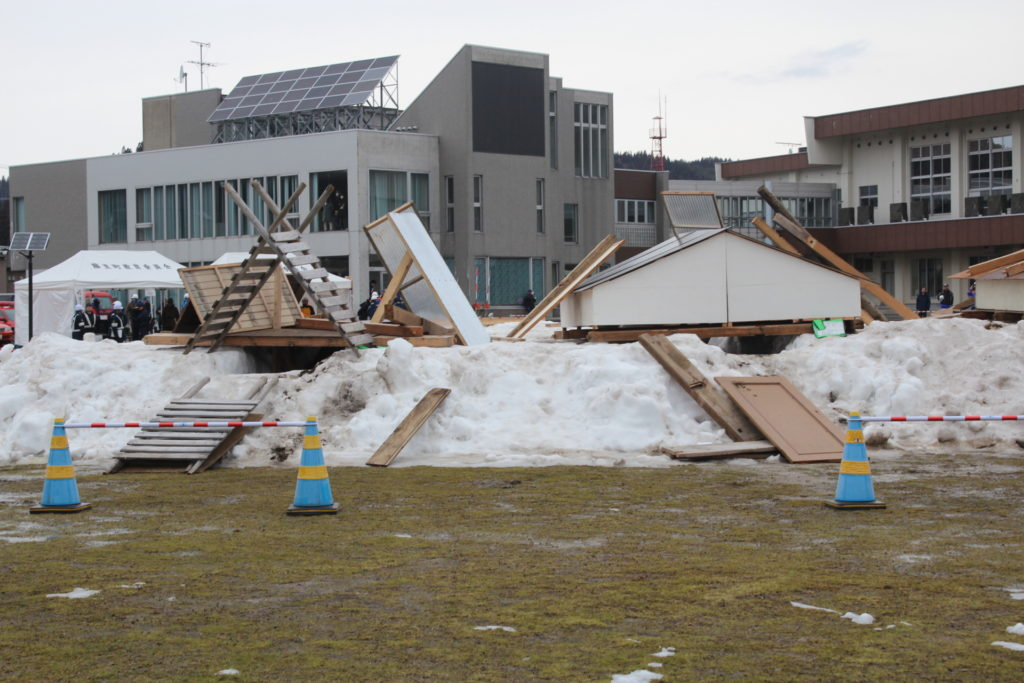 秋田県冬期防災訓練に参加しました(秋田県藤里町)