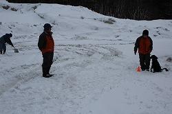 雪中における行方不明者の捜索訓練を行いました(青森市)。