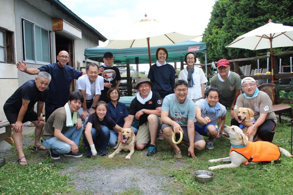 青森南警察署員と当チームとの親睦会を開催しました(青森市浪岡)。