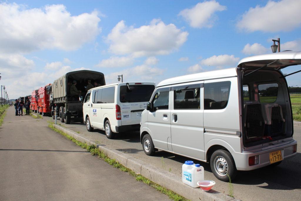 青森県総合防災訓練に参加しました(三沢市)。