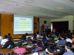 八戸市の子ども防災チャレンジキャンプでデモンストレーションを行いました。