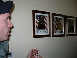 三沢アメリカ軍の軍用犬を見学しました。